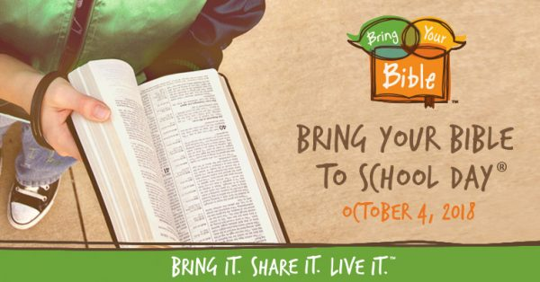 Bring Your Bible to School Day, October 4th, 2018
