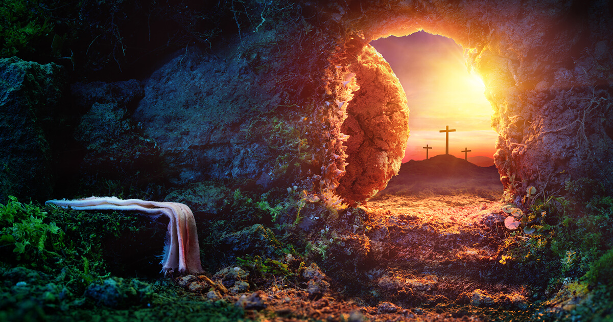 Empty tomb on Resurrection Day
